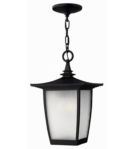 Hinkley Lighting Pearl 1 Light Outdoor Hanging Lantern in Black 1362BK-ESDS