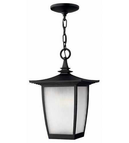 Hinkley Lighting Pearl 1 Light Outdoor Hanging Lantern in Black 1362BK