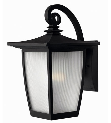 Hinkley Lighting Pearl 1 Light Outdoor Wall Lantern in Black 1364BK-ES