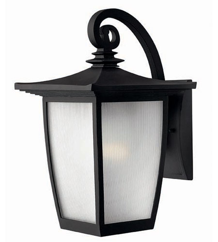Hinkley Lighting Pearl 1 Light Outdoor Wall Lantern in Black 1364BK