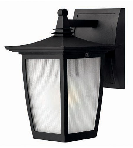Hinkley Lighting Pearl 1 Light Outdoor Wall Lantern in Black 1366BK