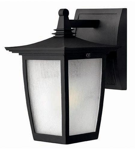 Hinkley Lighting Pearl 1 Light Outdoor Wall Lantern in Black 1366BK