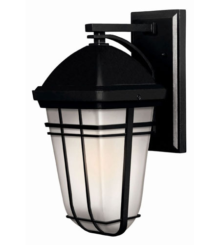 Hinkley Lighting Buckley 1 Light Outdoor Wall Lantern in Black 1370BK-LED