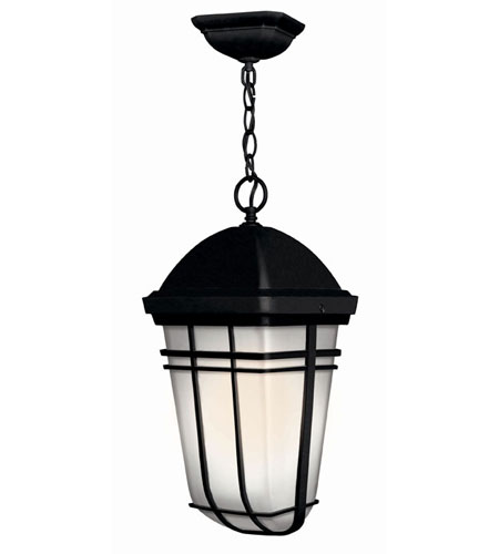 Hinkley Lighting Buckley 1 Light Outdoor Hanging Lantern in Black 1372BK-LED