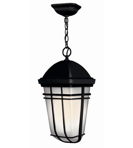 Hinkley Lighting Buckley 1 Light Outdoor Hanging Lantern in Black 1372BK