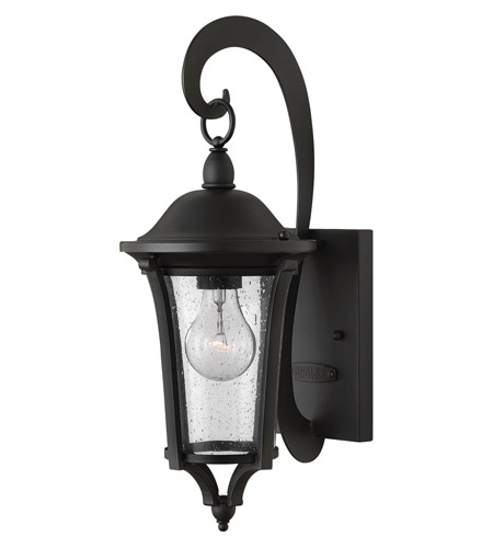 Hinkley 1380BK Chesterfield 1 Light 17 inch Black Outdoor Wall, Clear Seedy Glass photo