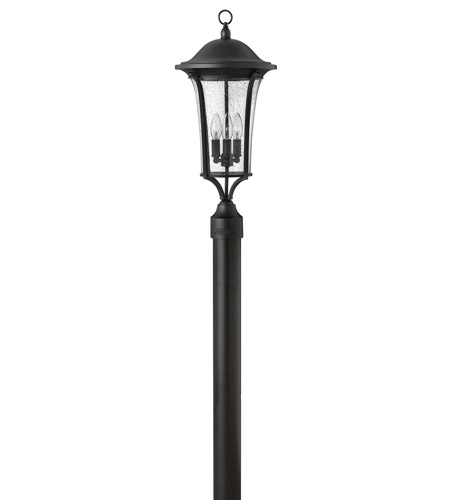 Hinkley 1381BK Chesterfield 3 Light 24 inch Black Post Lantern, Clear Seedy Glass, Post Sold Separately photo