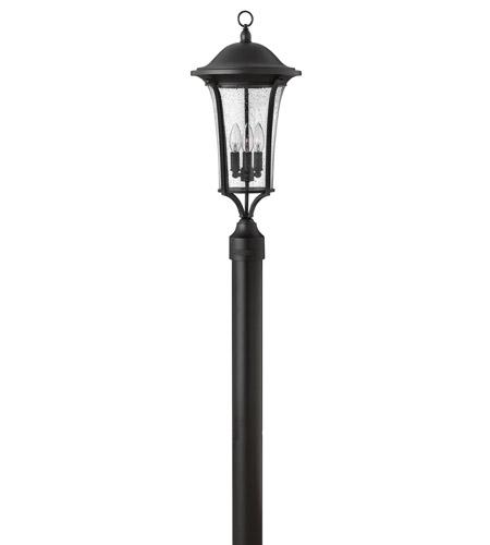 Hinkley Lighting Chesterfield 3 Light Post Lantern (Post Sold Separately) in Black 1381BK