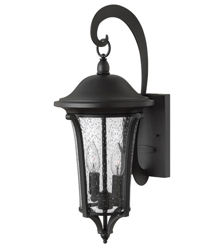 Hinkley 1384BK Chesterfield 2 Light 20 inch Black Outdoor Wall, Clear Seedy Glass photo