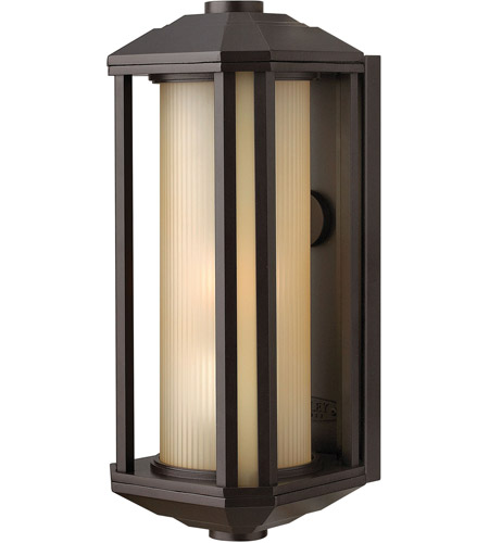 Hinkley 1390BZ Castelle 1 Light 15 inch Bronze Outdoor Wall Lantern in Amber Etched, Incandescent photo