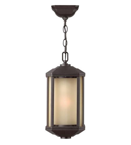 Hinkley Lighting Castelle 1 Light GU24 CFL Outdoor Hanging in Bronze 1392BZ-GU24
