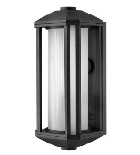 Hinkley Lighting Castelle 1 Light Outdoor Wall Lantern in Black 1394BK-ES