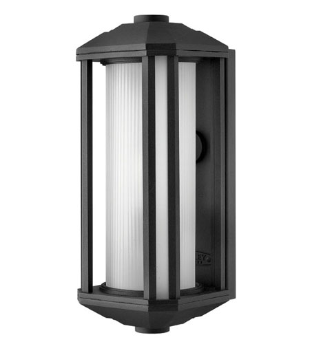 Hinkley Lighting Castelle 1 Light Outdoor Wall Lantern in Black 1395BK-ES