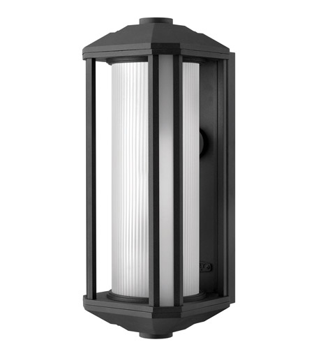 Hinkley Lighting Castelle 1 Light GU24 CFL Outdoor Wall in Black 1395BK-GU24