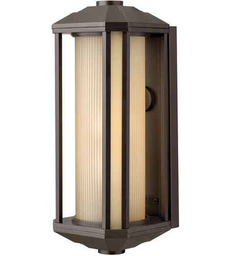 Hinkley 1395BZ Castelle 1 Light 18 inch Bronze Outdoor Wall Lantern in Amber Etched, Incandescent photo