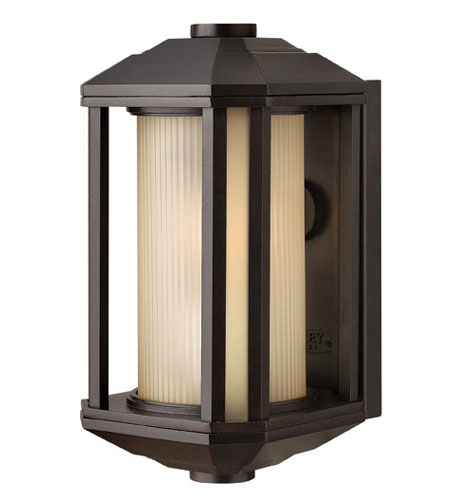 Hinkley Lighting Castelle 1 Light Outdoor Wall Lantern in Black 1396BK-ES
