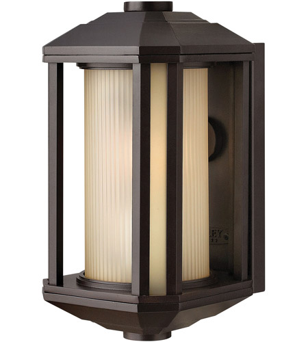 Hinkley 1396BZ Castelle 1 Light 12 inch Bronze Outdoor Wall Lantern in Amber Etched, Incandescent photo