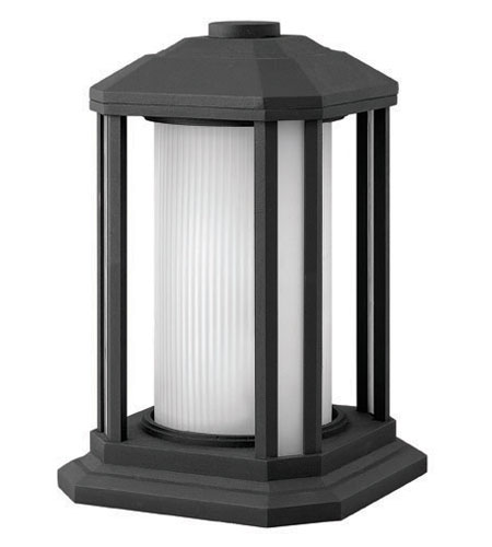 Hinkley Lighting Castelle 1 Light Pier Mount Lantern in Black 1397BK-ES