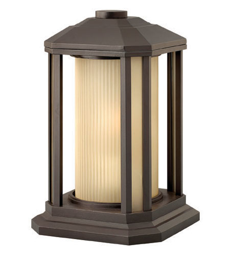 Hinkley Lighting Castelle 1 Light Pier Mount Lantern in Bronze 1397BZ-ES