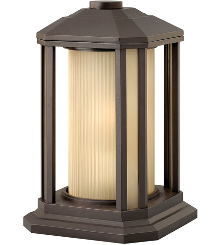 Hinkley 1397BZ Castelle 1 Light 13 inch Bronze Pier Mount Lantern in Ribbed Etched, Incandescent photo