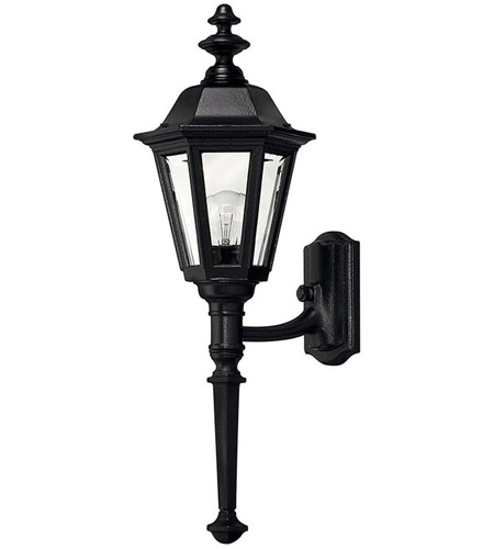 Hinkley Lighting Manor House 1 Light Outdoor Wall Lantern in Black 1410BK