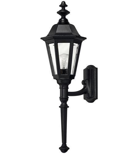 Hinkley Lighting Manor House 1 Light Outdoor Wall Lantern in Black 1410BK