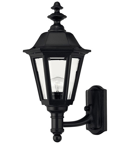 Hinkley Lighting Manor House 1 Light Outdoor Wall Lantern in Black 1419BK