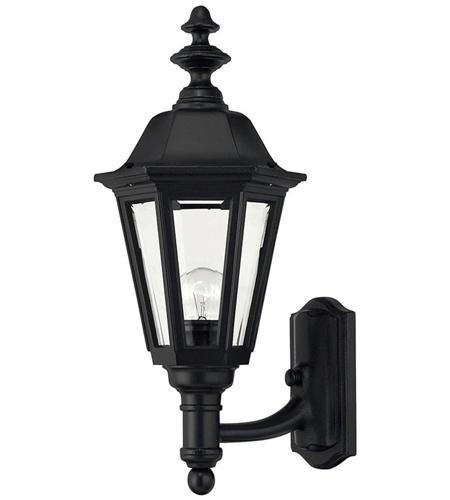 Hinkley Lighting Manor House 1 Light Outdoor Wall Lantern in Black 1419BK