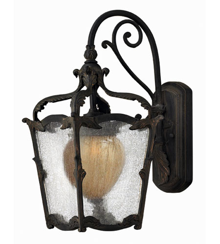 Hinkley Lighting Sorrento 1 Light Outdoor Wall Lantern in Aged Iron 1420AI-ES photo