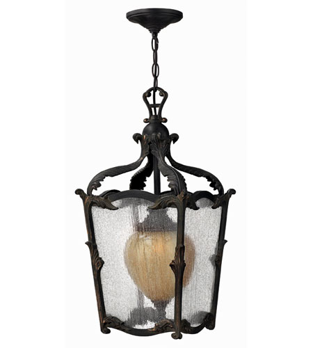 Hinkley Lighting Sorrento 1 Light Outdoor Hanging Lantern in Aged Iron 1422AI-ES