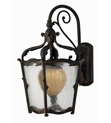 Hinkley Lighting Sorrento 1 Light Outdoor Wall Lantern in Aged Iron 1424AI-ES