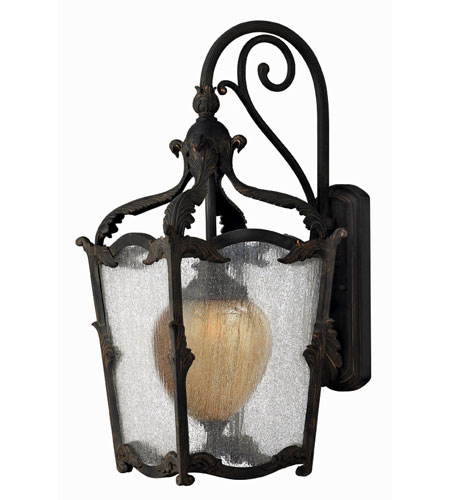 Hinkley Lighting Sorrento 1 Light Outdoor Wall Lantern in Aged Iron 1425AI-ES photo
