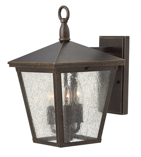 Hinkley 1429RB-LED Trellis 1 Light 15 inch Regency Bronze Outdoor Wall Lantern in LED, Clear Seedy Glass photo
