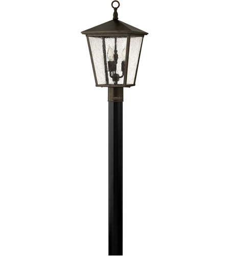 Hinkley 1431RB-LED Trellis 1 Light 18 inch Regency Bronze Post Lantern in LED, Post Sold Separately, Clear Seedy Glass photo
