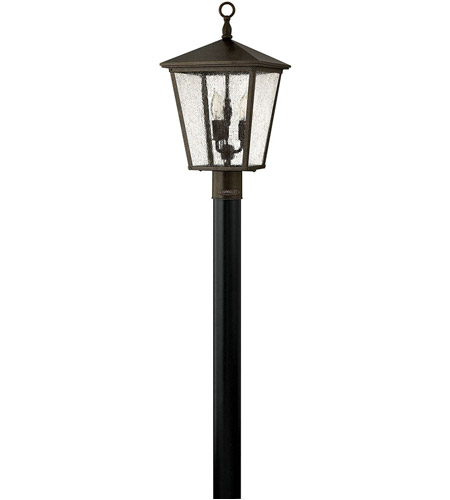 Hinkley Lighting Trellis 3 Light Post Lantern (Post Sold Separately) in Regency Bronze 1431RB