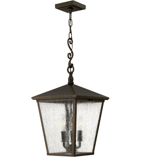 Hinkley 1432RB-LED Trellis 1 Light 11 inch Regency Bronze Outdoor Hanging in LED, Clear Seedy Glass photo