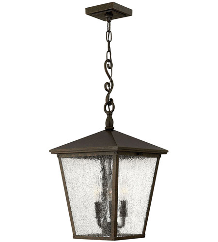 Hinkley Lighting Trellis 3 Light Outdoor Hanging Lantern in Regency Bronze 1432RB
