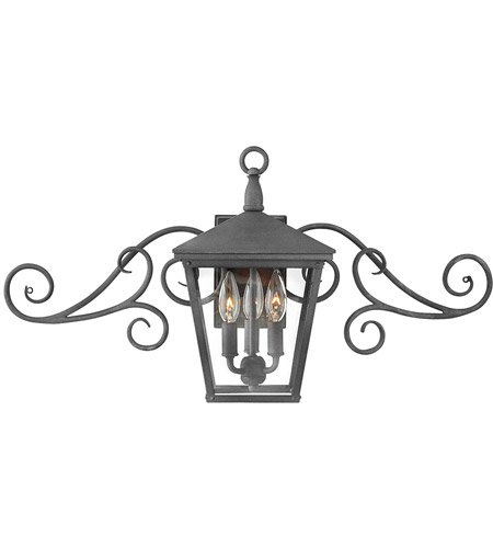Hinkley 1433DZ-LL Trellis LED 15 inch Aged Zinc Outdoor Wall Mount photo