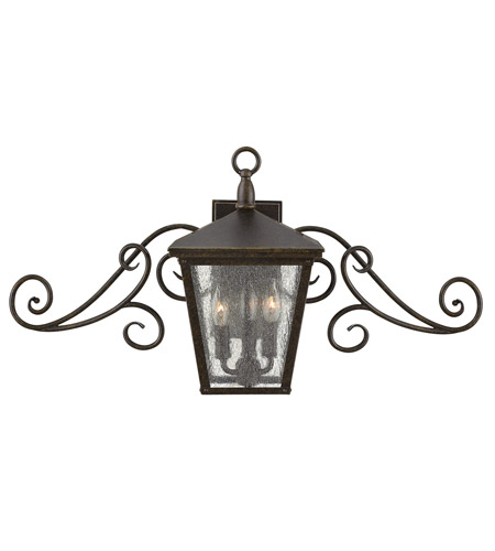 Hinkley 1433RB-LED Trellis 1 Light 30 inch Regency Bronze Outdoor Flush Lantern in LED, Clear Seedy Glass photo