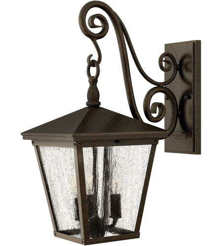 Hinkley 1434RB-LED Trellis 1 Light 20 inch Regency Bronze Outdoor Wall in LED, Clear Seedy Glass photo