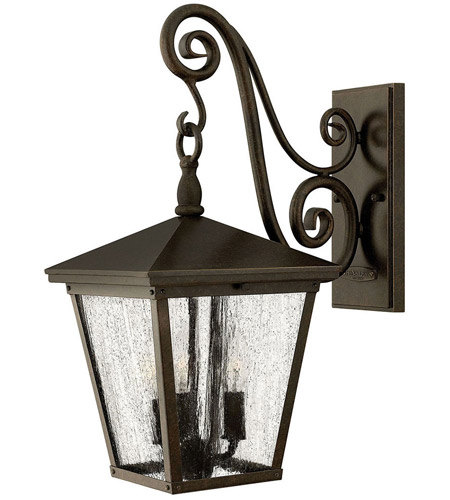 Hinkley Lighting Trellis 3 Light Outdoor Wall Lantern in Regency Bronze 1434RB
