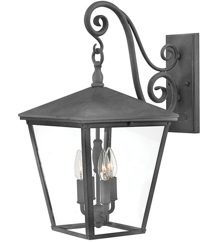Hinkley 1435DZ Trellis 4 Light 22 inch Aged Zinc Outdoor Wall Mount in Incandescent, Large photo