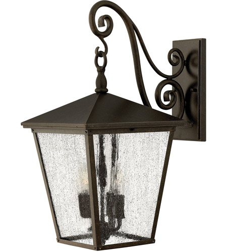 Hinkley 1435RB-LED Trellis 1 Light 22 inch Regency Bronze Outdoor Wall in LED, Clear Seedy Glass photo