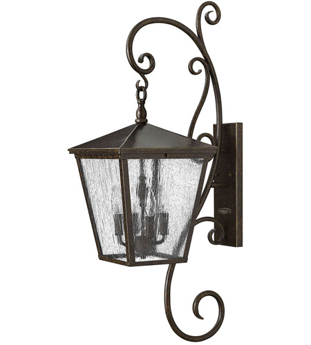 Hinkley 1436RB Trellis 4 Light 36 inch Regency Bronze Outdoor Wall Mount in Candelabra, Clear Seedy Glass photo