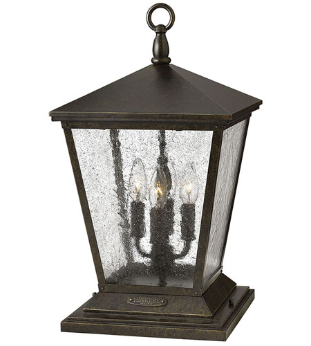 Hinkley Lighting Trellis 4 Light Pier Mount Lantern in Regency Bronze 1437RB
