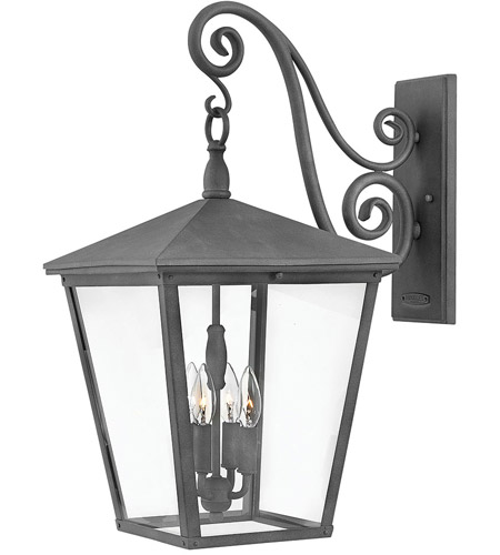 Hinkley 1438DZ Trellis 4 Light 26 inch Aged Zinc Outdoor Wall Mount in Incandescent, Extra Large photo