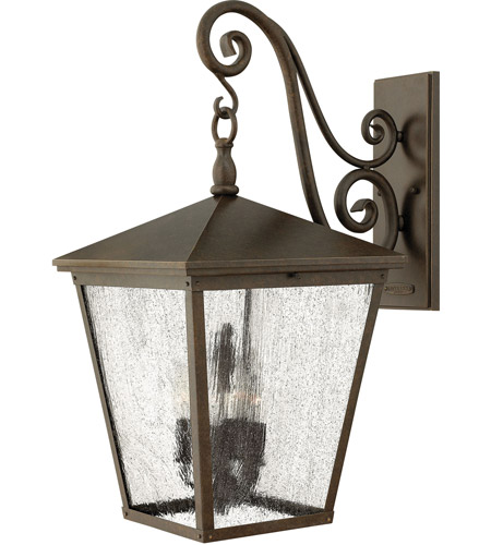 Hinkley 1438RB-LED Trellis 1 Light 26 inch Regency Bronze Outdoor Wall in LED, Clear Seedy Glass photo