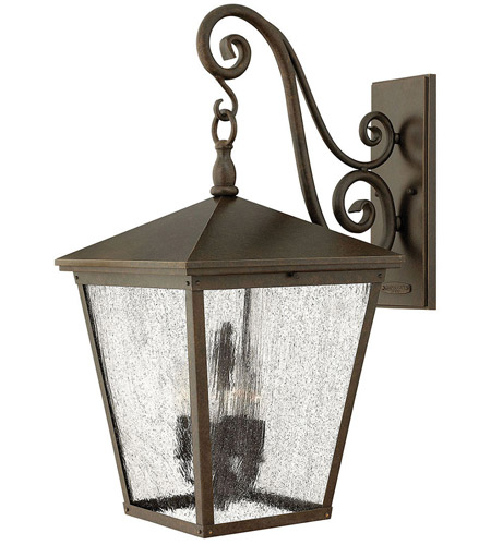 Hinkley 1438RB-LL Trellis LED Regency Bronze Outdoor Wall Mount in Candelabra LED photo