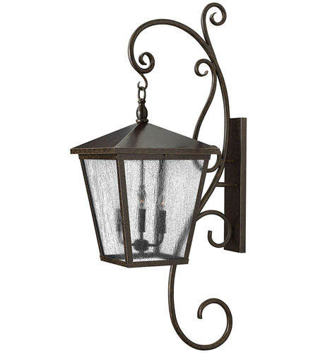 Hinkley 1439RB Trellis 4 Light 52 inch Regency Bronze Outdoor Wall, Clear Seedy Glass photo