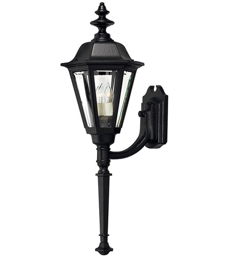 Hinkley Lighting Manor House 1 Light Outdoor Wall Lantern in Black 1440BK